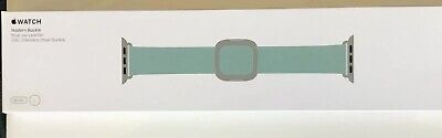 Genuine Apple Blue Jay Leather Watch Strap Modern Buckle  38mm 40mm Large