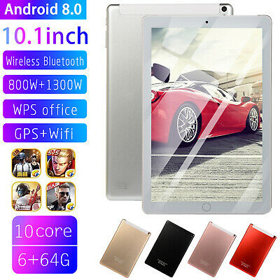 10.1 Inch Android 8.0 Ten-Core Tablet PC 64GB WIFI Bluetooth HD Touch Screen UK