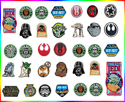 STAR WARS Movie collection embroidered iron sew on patch badges applique from UK