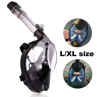 Full Face Snorkel Mask Scuba Diving Underwater Breathing No FOG Goggles