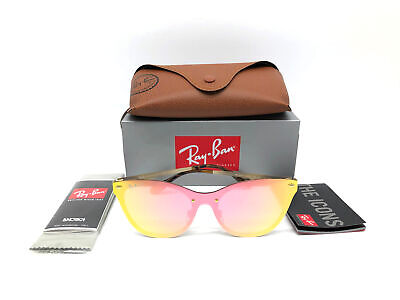 e726aaa21c473 New Authentic Ray Ban Rb3580N 043 E4 Blaze Cat Eye Gold Pink Made In Italy