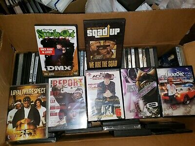 80+ DVD LOT- Hip Hop/Rap/Lifestyle-The Come Up, Raw Report, DJ Jelly, All Access