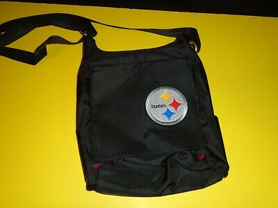 7e094ce35d Pittsburgh Steelers NFL Women's Black Color Sheen Cross-body Purse Bag NWT