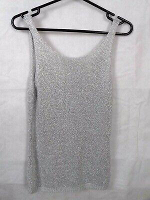 0e60e40b NEXT SIZE 8 Grey Silver Sparkly Knitted Vest Top - $9.75 | PicClick