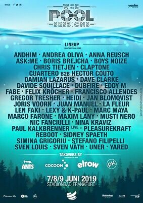 2x World Club Dome Pool Session 2019 Regulartickets (inkl. Elrow, Cocoon & Ants)