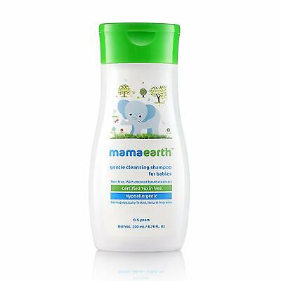 Mamaearth Gentle Cleansing Shampoo for babies (200 ml, 0-5 Yrs) Freeshipping