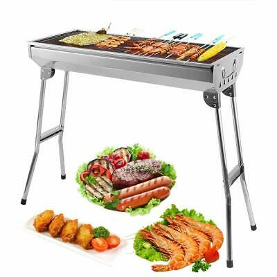 Portable Folding BBQ Charcoal Barbecue Grill Picnic Stainless Steel Stove