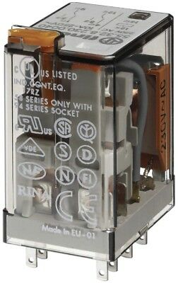 Finder 553282300040PAS Plug-in Relay 2RT 10 A 48 Vac with Test Indicator