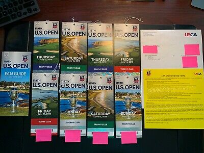2019 U.S. Open Pebble Beach - Trophy Club Championship Round Package June 13-16