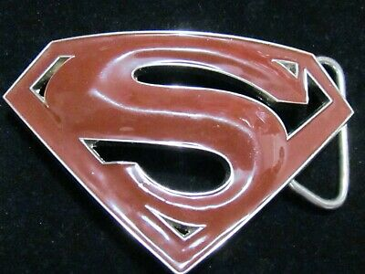 "DC Comics Enameled ""Superman"" Belt Buckle by GTO Designs"