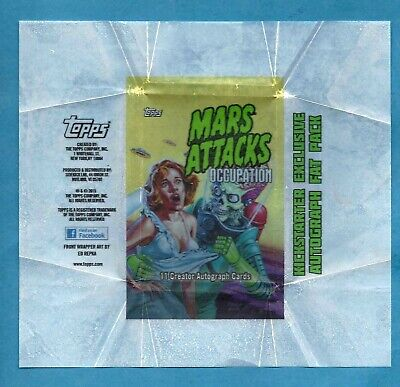 Mars Attacks Occupation Topps....creator  Autograph Wrapper (No Cards)