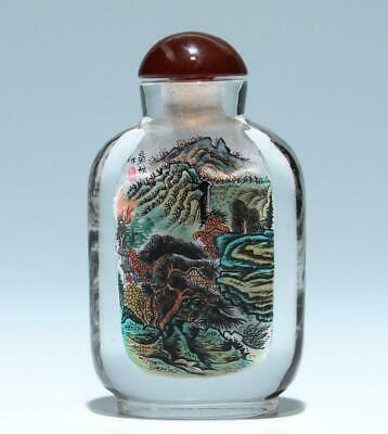 Chinese Inside Painted Crystal Snuff Bottle       #388