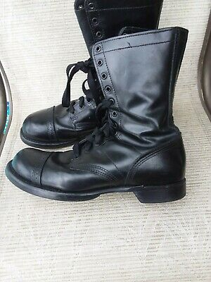 """Corcoran 1500.  10"""" Black Leather Cap Toe Jump Motorcycle Boots Men's 11.5D USA"""