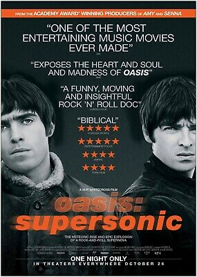 Oasis Supersonic Music Band Movie Large Poster Art Print A0 A1 A2 A3 A4 Maxi