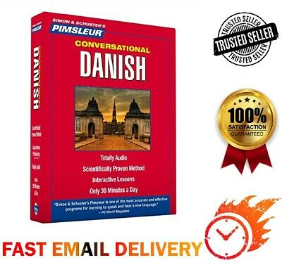 DANISH Language Teaching Software! Most Effective Audio Course! Fast email!