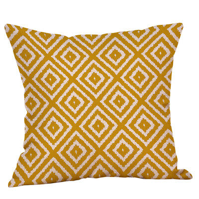 Mustard Pillow Case Yellow Geometric Fall Soft Pillow Cushion Cover Decorative W
