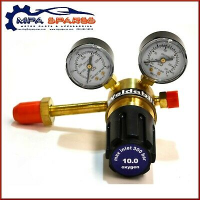 Single Stage 2 Gauge Oxygen Regulator - Side Entry