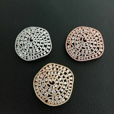 1pc 40x42mm gold plated Cz micro Flower connector DIY Jewelry Findings