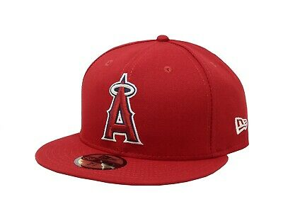 New Era 59Fifty Hat Mens MLB Los Angeles Angels of Anaheim 2018 GM Fitted Cap