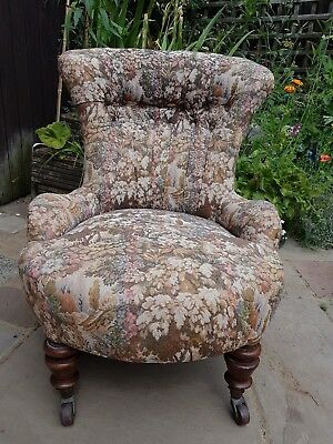 Collectable Charles Hindley Button backed (134 Oxford St London) Victorian Chair