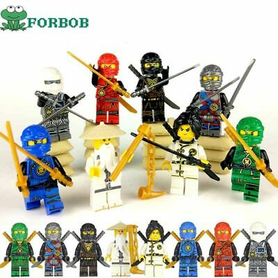 8pcs Lego Ninjago Figures Building Blocks Set Lloyd Kai Zane Pythor Minifigure