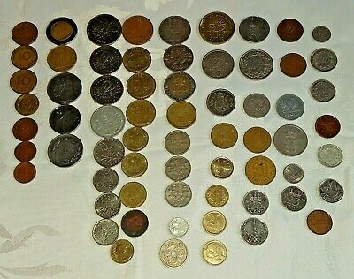 Old European Coins Lot - Mixed Circulated Coins. Francs, Lire, Pfennig & Others