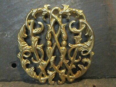 Colonial Williamsburg Cypher Trivet  CW10-14 Brass 1950 Virginia Metalcrafters