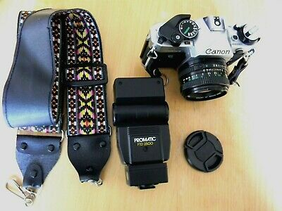 Canon AE-1 Program SLR 35mm Film Camera with 50mm f/1.8 Lens - Very Good