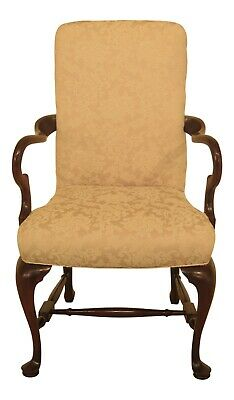 47310EC: HICKORY CHAIR CO. Queen Anne Mahogany Armchair