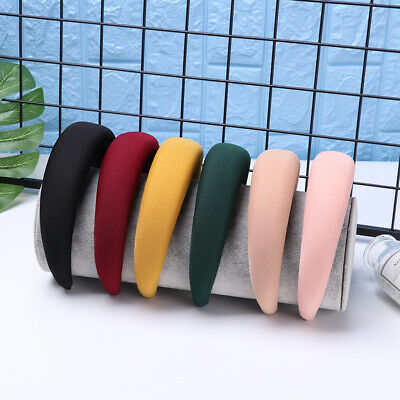 Women Girls Polyester Headwear Thick Sponge Velvet Headbands Hair Bands