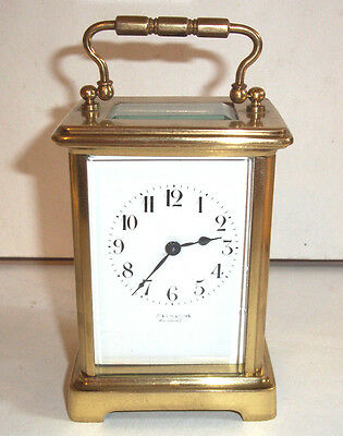 Nice Vintage / Antique Brass carriage Clock French Movement GWO