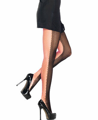 LEG AVENUE JESTER TWO TONE TIGHTS BLACK//PURPLE  ONLY £1.99