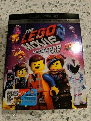 The Lego Movie 2 The Second Part (Blu-ray + 4K UHD) BRAND NEW!! w/ Slipcover