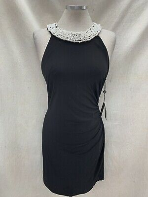 "Adrianna Papell Black Dress/jersey Stretch Fabric/retail$149/size 16/length 38""/"