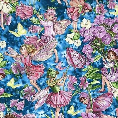 Fairies Fairy Whispers Cicely Mary Barker M/Hilites Cotton Quilting Fabric 1/2YD