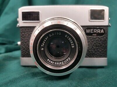 Vintage Camera WERRA mat Carl Zeiss Jena Lens with case all working 19067