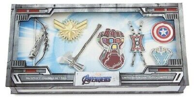 2019 Disney Marvel Avengers: Endgame pin set of 7 Limited Edition Of 2200 - NIB