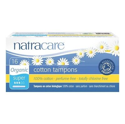 NATRACARE - Organic All Cotton Tampons with Applicator Super - 16 Tampons