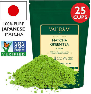 Matcha Green Tea Powder SUPERFOOD (25 Servings) 100% Pure Authentic Japanese |