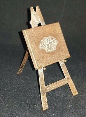 Antique Avery Redditch Gilt Brass Novelty Easel Needle Case Rare