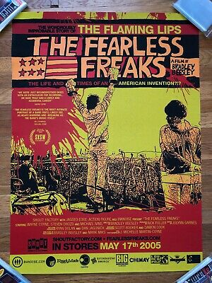 The Flaming Lips FEARLESS FREAKS 2005 Official Promo Print Poster RARE