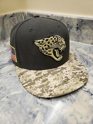 pretty nice d79df 228e1 Jacksonville Jaguars New Era 59Fifty NFL 2016 Salute to Service Fitted Hat 7  1 8