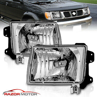 For 1998-2000 Nissan Frontier 2000-2001 Nissan Xterra Chrome Headlights Set