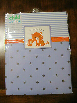 New NWT Carter Child of Mine Boy Blue Tiger Baby Memory First Record Book