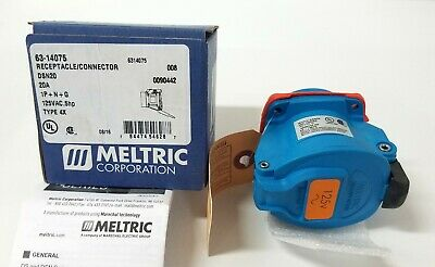 NEW Meltric 63-14075 Receptacle Connector 125VAC 20A Type 4X DSN 0.5HP DSN20