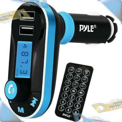 NEW Pyle Wireless B/T+ FM Transmitter & Hands-Free Car Charger Kit