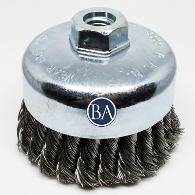 "2-3/4"" X 5/8""-11 Crimped Cup Brush - Carbon Steel (5 Pack)"