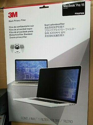 "NEW 3M Privacy Filter for 15"" Apple MacBook Pro (2016+ Model) - Genuine 3M"