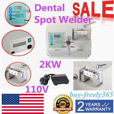 Dental Spot Welder Welding Teeth Orthodontic Materials Heat Treatment WD2 USA US