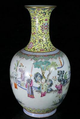 Chinese Exquisite Handmade Ancient People porcelain vase